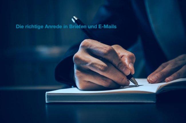 Welche Anrede in Briefen und E-Mail?