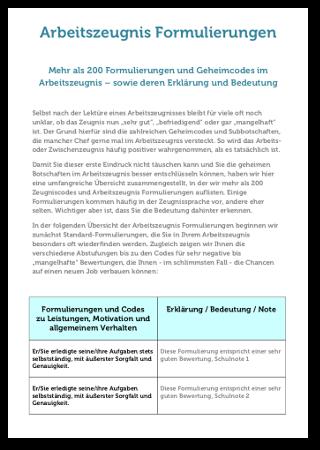 Zeugnisformulierungen Arbeitszeugnis Formulierungen Codes Pdf Ebook Cover