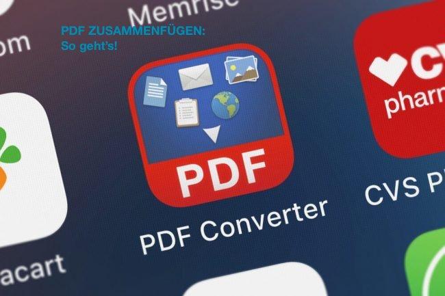 Wie kann ich meine Bewerbung in einem PDF zusammenfügen?